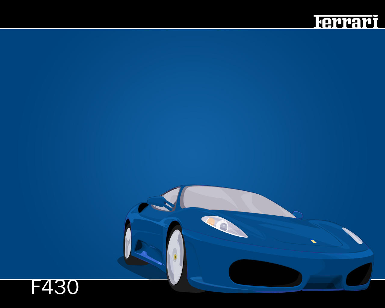 Ferrari F430 Vector Blue by V3ct0r