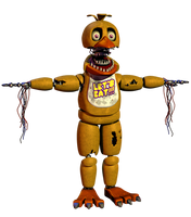 Withered Chica v4 WIP by Spinofan