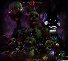 FNaF 3 Anniversary Poster by Spinofan