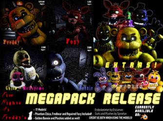 FNaF 1 MEGAPACK Release! by Spinofan