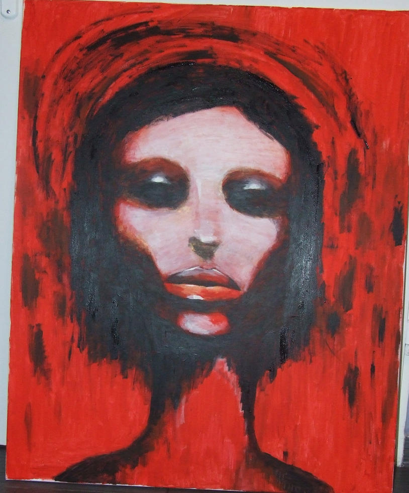 Red woman by lane01