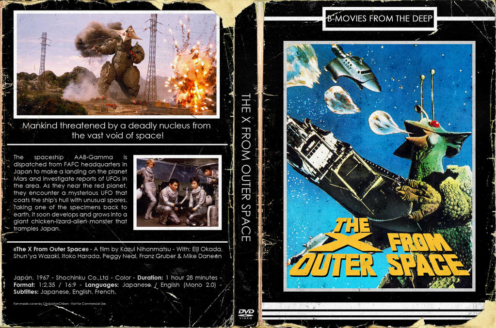 Retro-DVD Cover] - X From Outer Space by ChokaVonChicken on DeviantArt