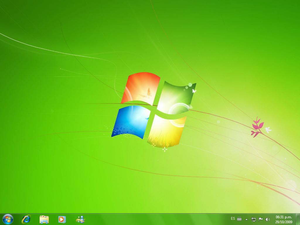 Window 7 desktop