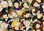 Doctor Who Chibi Collage by cookiepianosart