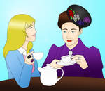 Jo and Missy Tea Party by cookiepianosart