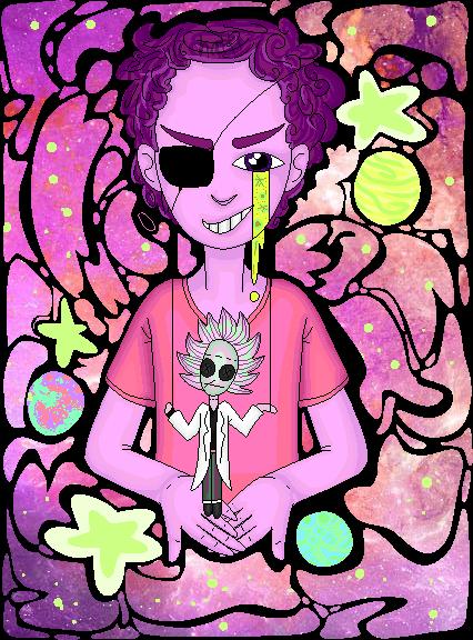 Evil Morty by HattiHattington