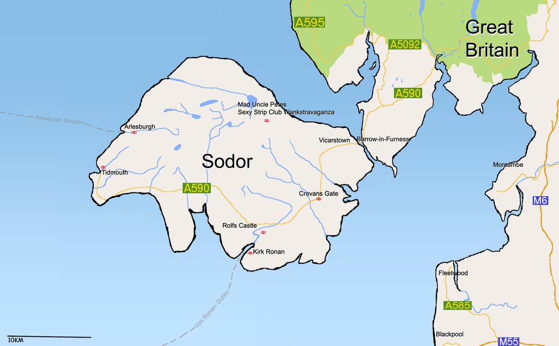 Island Sodor Map
