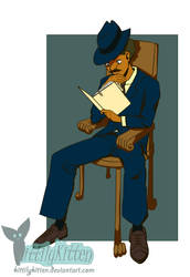 Detective Brown - Sitting in a chair