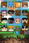 Minecraft Youtubers Themed IPhone 4/4S wallpaper