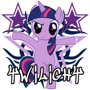 Twilight Sparkle spray by ThaddeusC