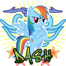 Rainbow Dash spray by ThaddeusC