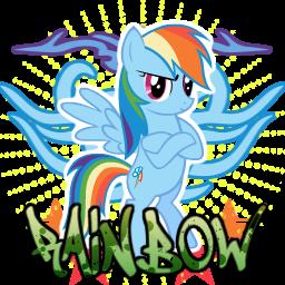 Rainbow Dash spray -alternate- by ThaddeusC
