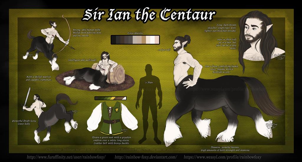 Ian The Centaur by Rainbow-Foxy