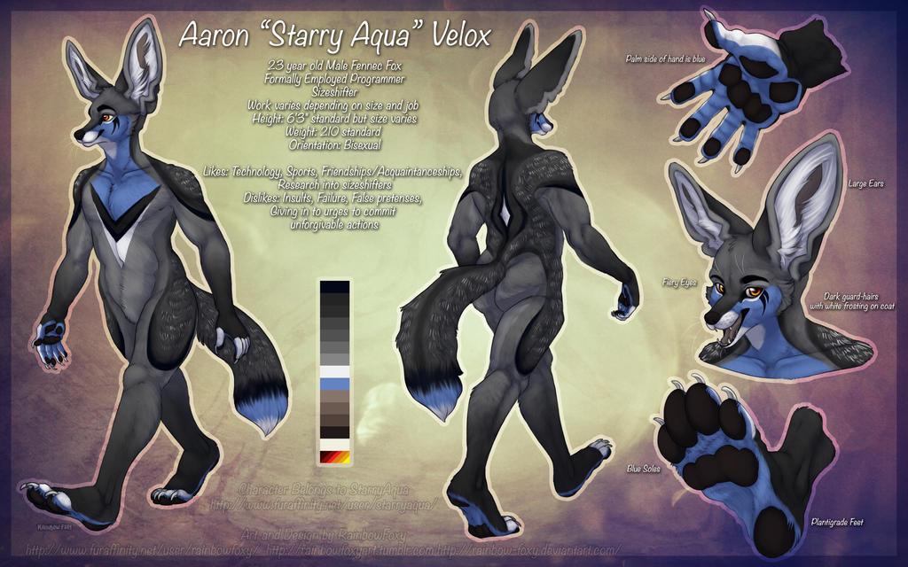 Starry Aqua by Rainbow-Foxy