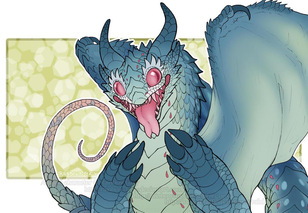 Dragon Blep (SPEEDPAINT) by Rainbow-Foxy