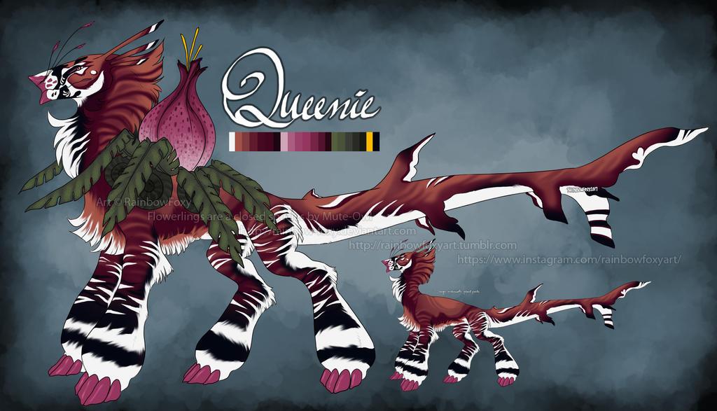 Queenie (Flowerling MYO Contest 2017) by Rainbow-Foxy