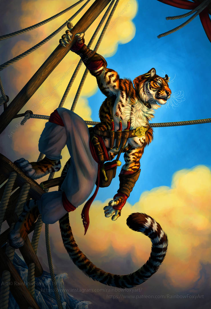 Tiger Pirate by Rainbow-Foxy