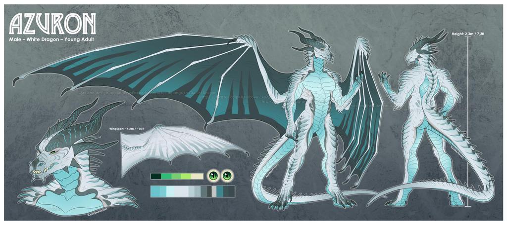 GlaciesDragon Ref Sheet and Design Comm by Rainbow-Foxy