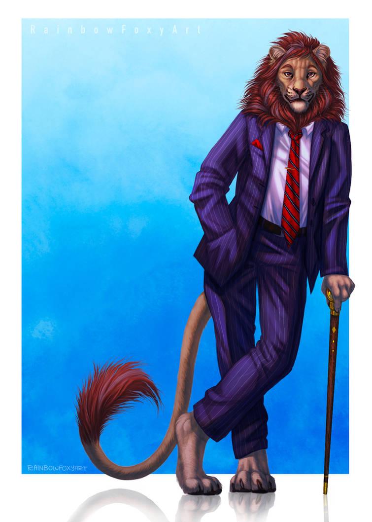 [CM] Business Lion by Rainbow-Foxy