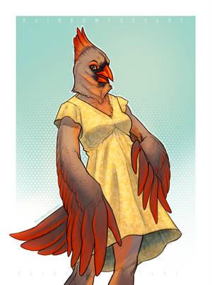 [PR] Cardinal (kokopuff) by Rainbow-Foxy