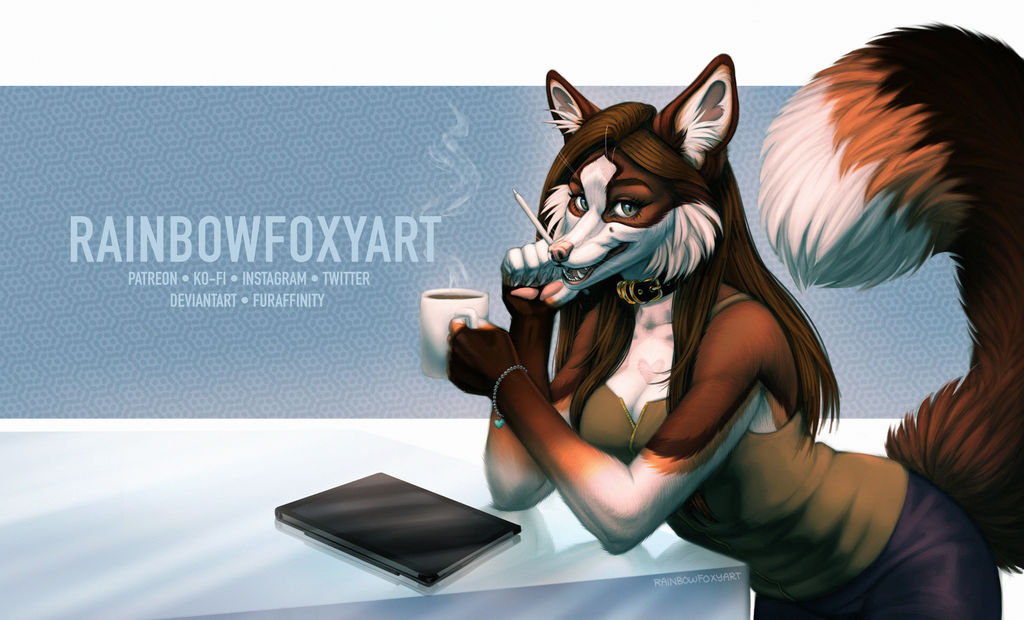 Fox at Work by Rainbow-Foxy