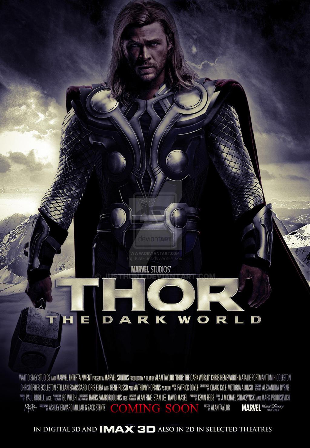 thor the dark world movie poster by justhunt on deviantart