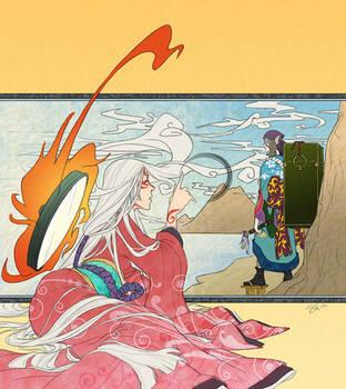 okami+mononoke - sea and sky by chirart