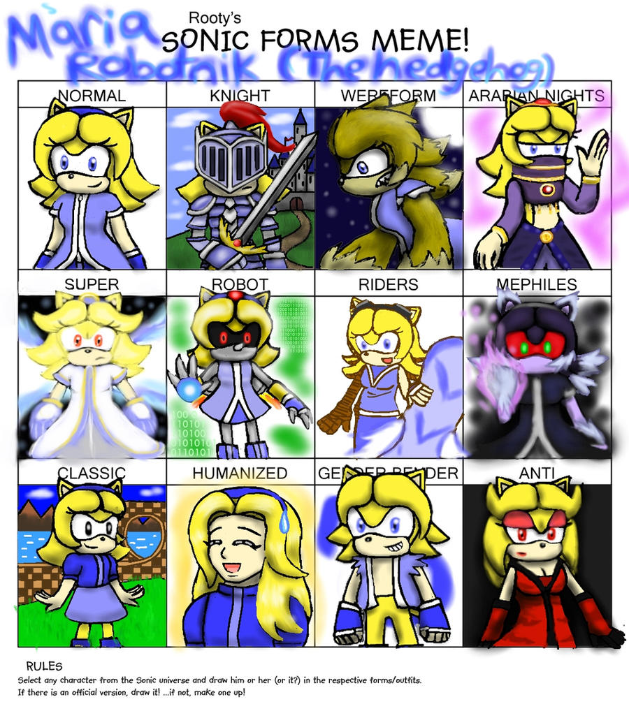 Sonic Forms: Sonic Forms Meme By Cloba94 On DeviantArt