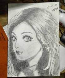 Girl black and white