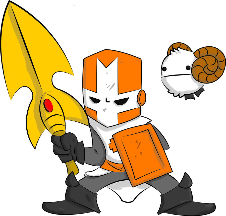 Orange Knigh... Castle Crashers Orange Knight Minecraft Skin