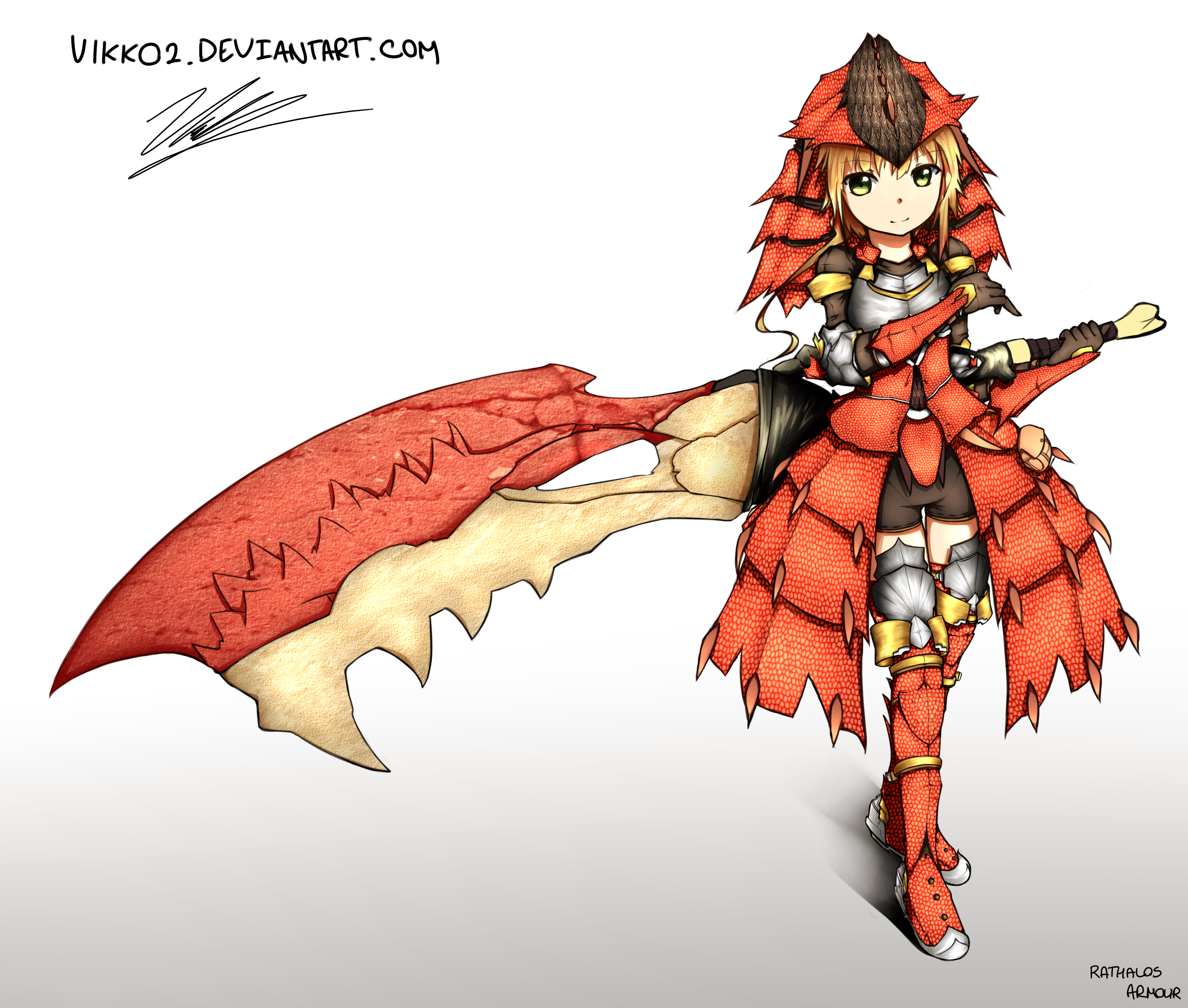 Rathalos Armour Monster Hunter By Hoaiartworks On Deviantart