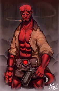 [Commission] Hellboy