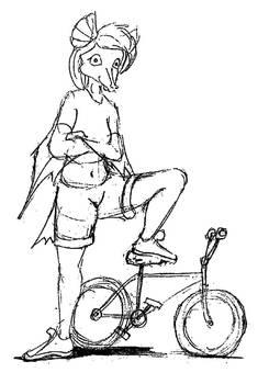 Minibike Batgirl