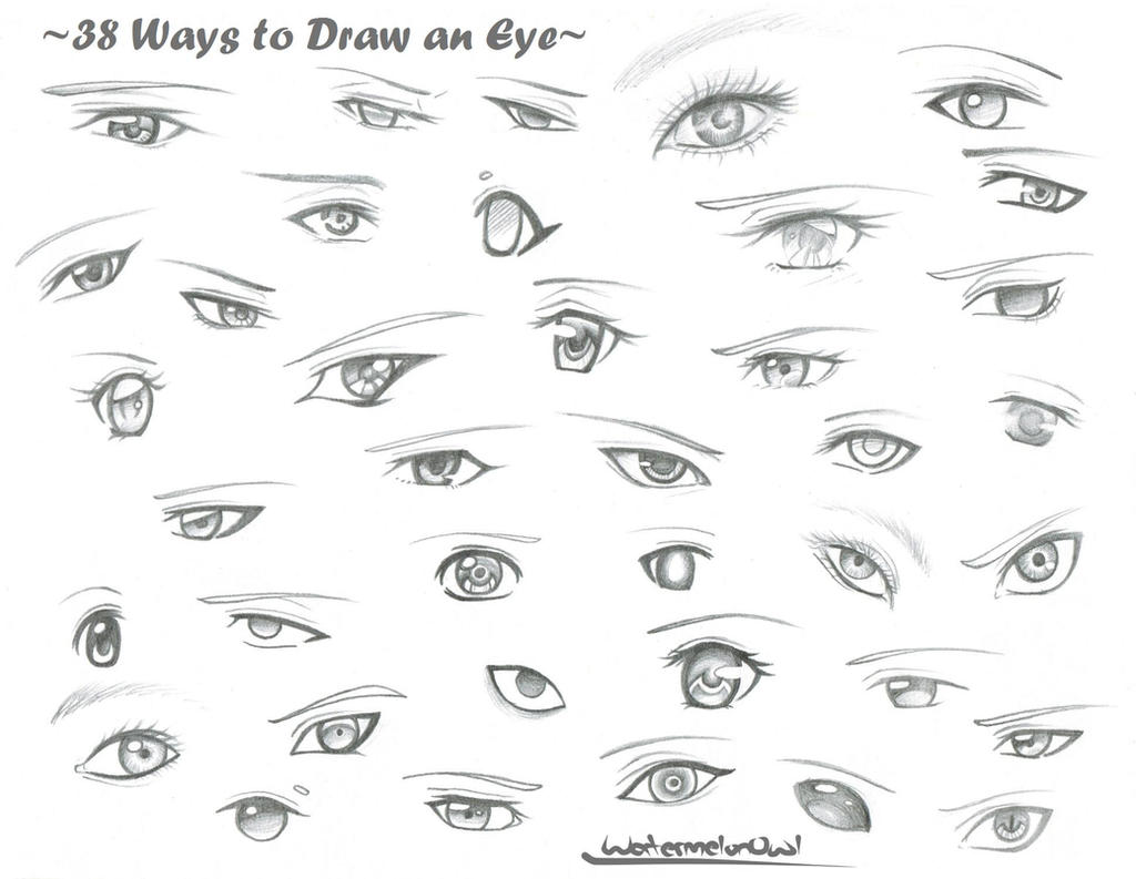 It is a picture of Unusual Different Types Of Eyes Drawing