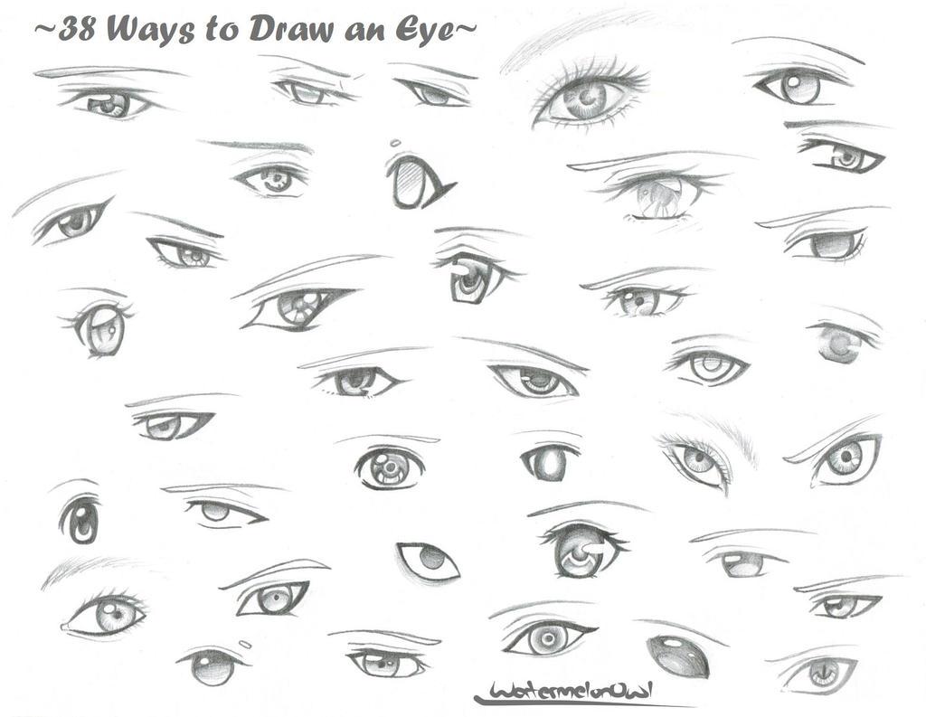 38 Ways to Draw an Eye by WatermelonOwl