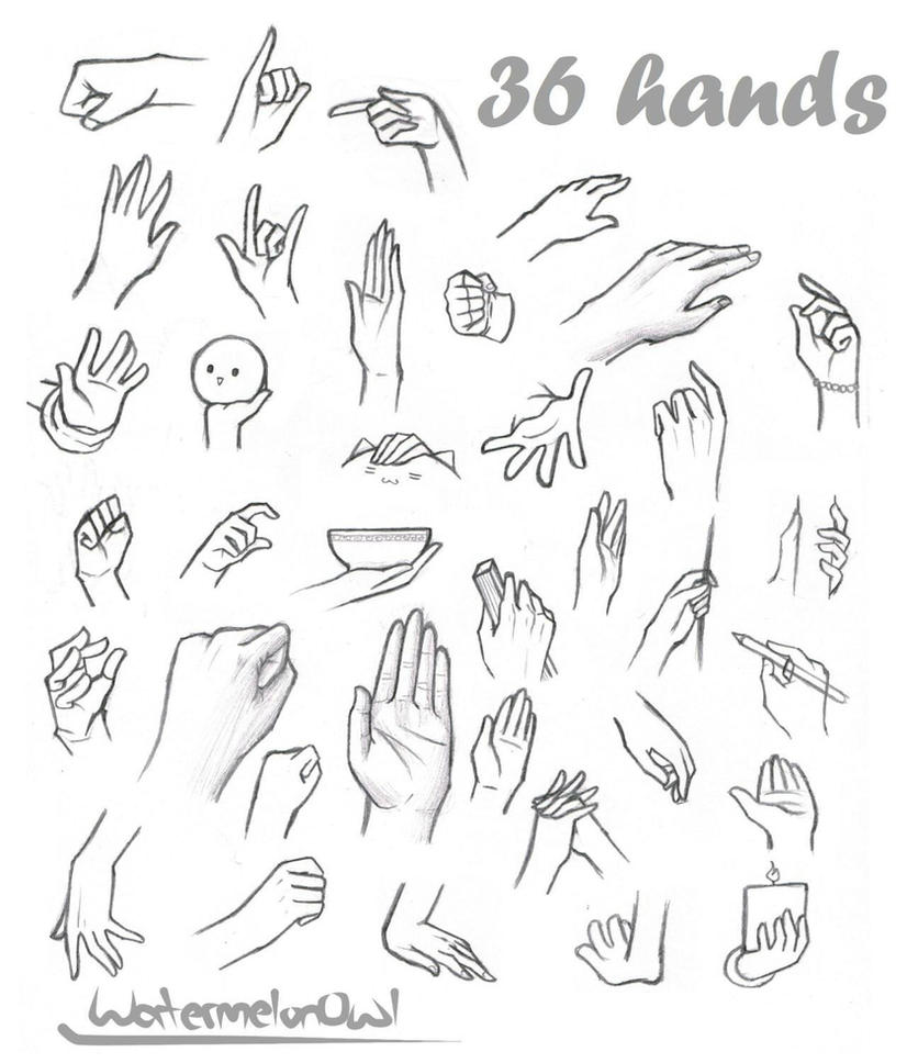 How To Draw Anime Hands Step 2 36 Hands By Watermelonowl