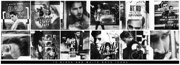 49 | Black and White 'Boys' Icons by itsmorphine
