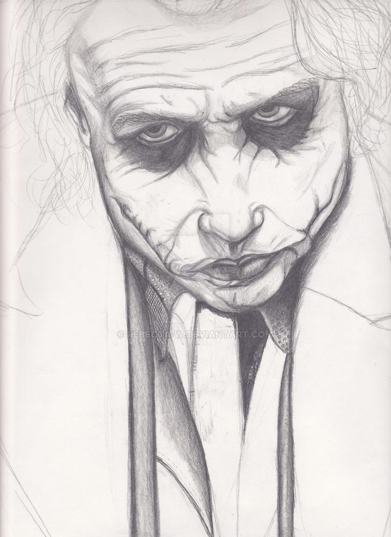 Joker Portrait WIP by rebecca-w