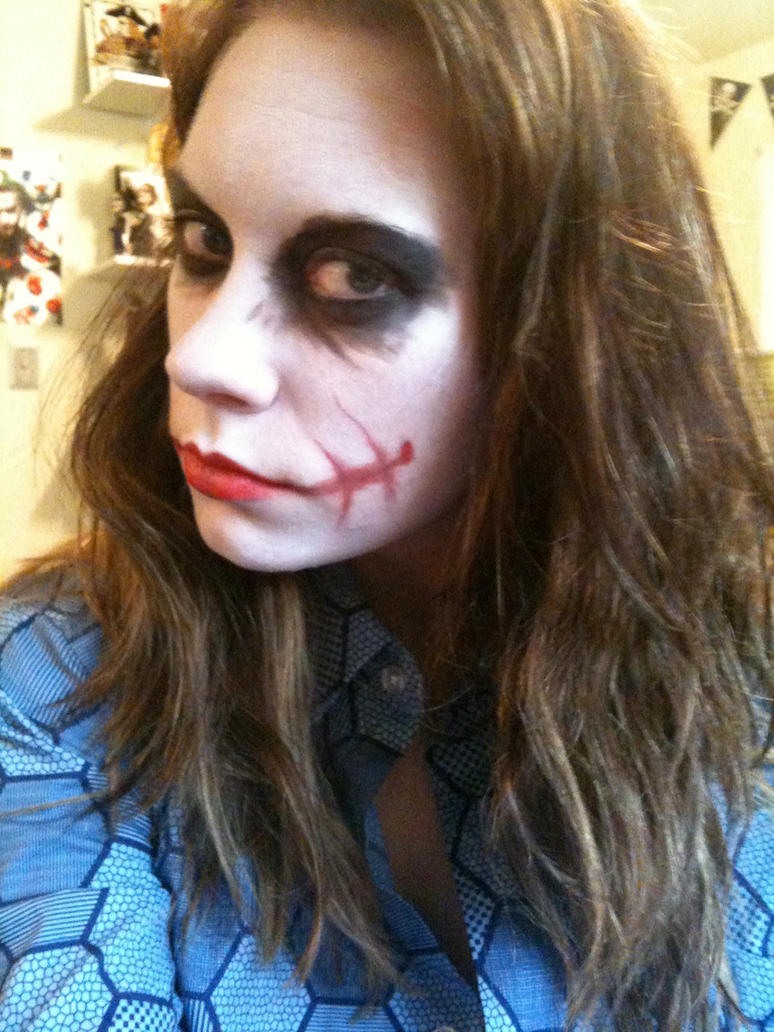 Femme Joker MakeUp by rebecca-w
