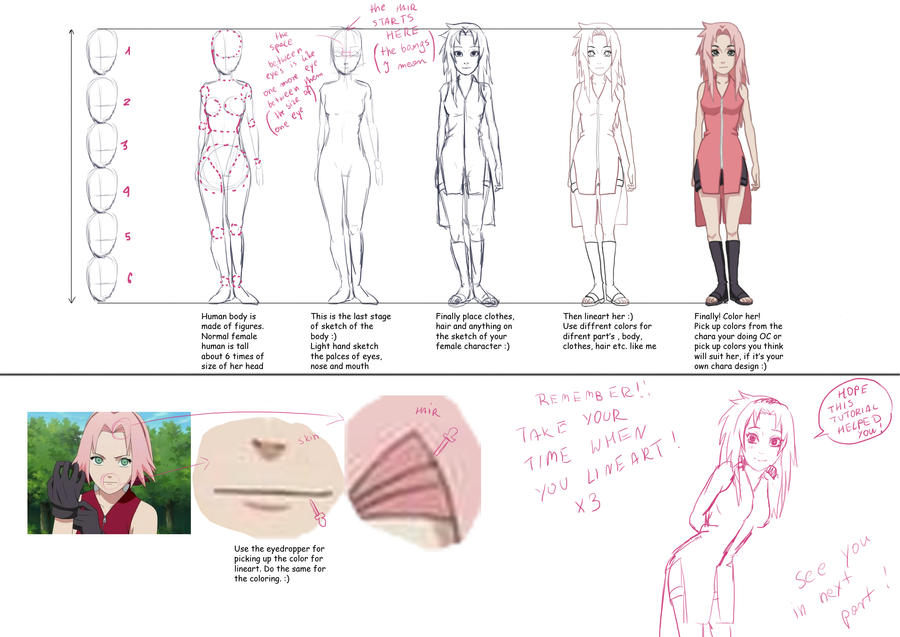 tutorial how to draw female body by izumii89 on deviantart