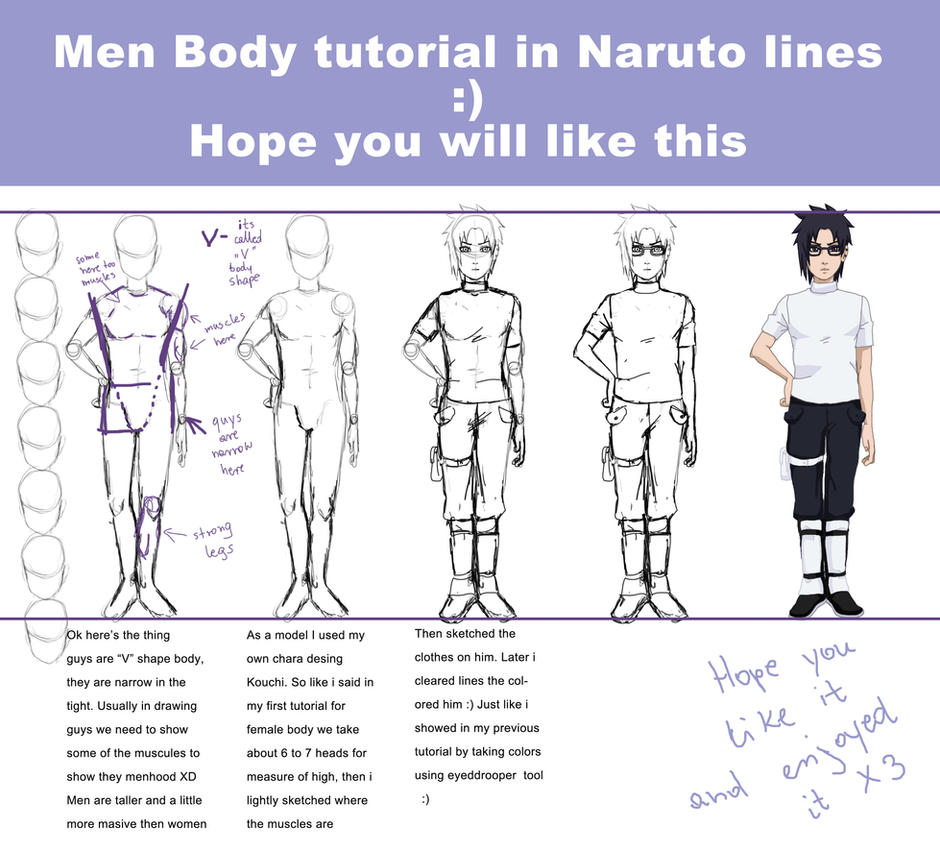 Men body tutorial by Izumii89