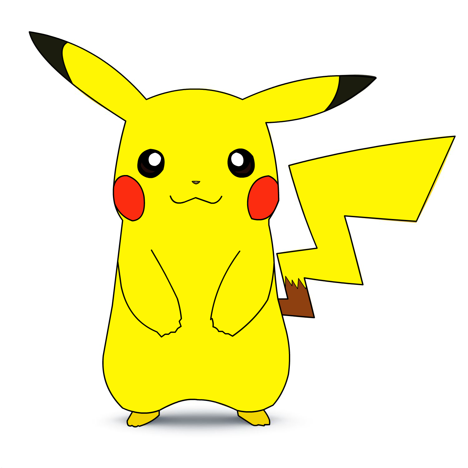 Pikachu Flash Drawing (Vector,Concept Art Unit) By