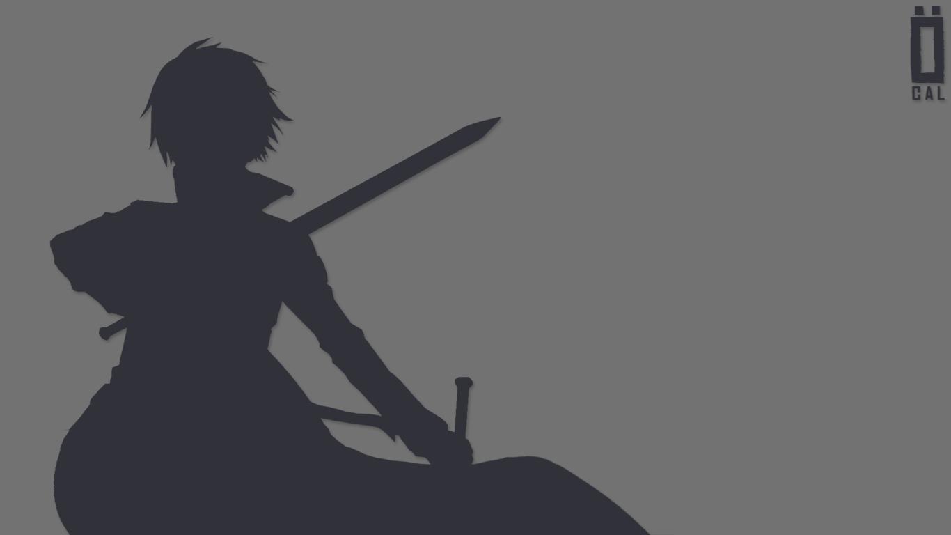 Kirito sword art online minimalist wallpaper by for Minimal art online