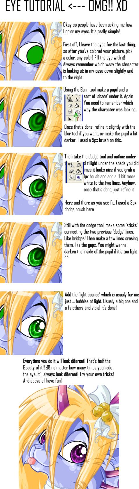 Shinny eye tutorial by Daffupanda