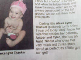 Baby In the Newspaper by nicolelylewis