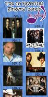 My Top 10 Bands/Singers by nicolelylewis
