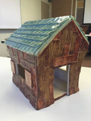 Cabin Birdhouse by nicolelylewis