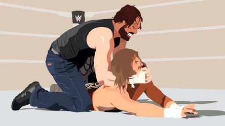 Dean Ambrose vs. Dolph Ziggler submission