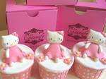 Hello Kitty Cupcakes 3D fondant topper