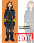 Marvel Heroes - Black Widow by NowitzkiTramonto